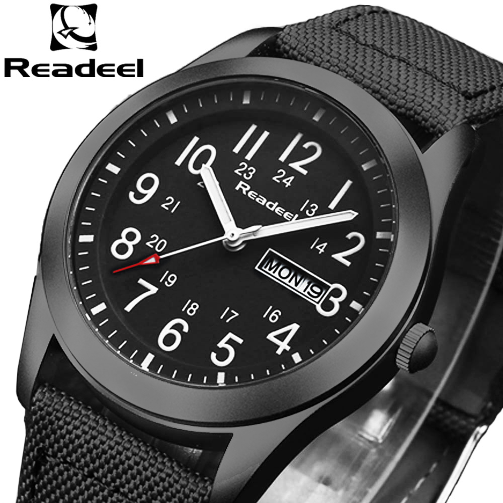 Readeel Marke Mode Männer Sport Uhren herren Quarz Stunde Datum Uhr Mann Military Armee Wasserdichte armbanduhr kol saat erkekle