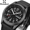 Readeel marca moda hombres deporte relojes de cuarzo hora fecha reloj hombre Militar ejército impermeable reloj Kol SAAT erkekle