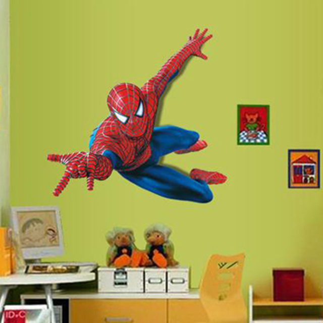 Spiderman Wall Stickers Peel And Stick For Children Boys Kids Room ...