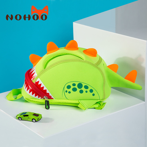 NOHOO Baby Kid's School Bags Waterproof Dinosaur Neoprene Children School Bags Boys Girls 3D Cartoon Bags for 2-5 Years Old