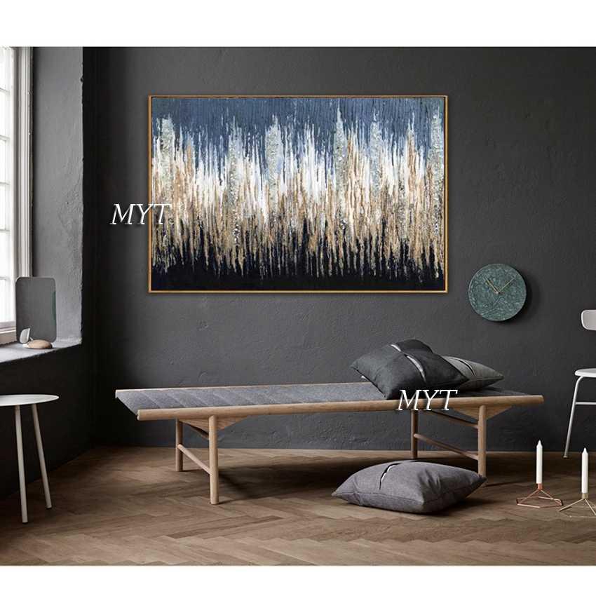 גדול גדלים עמוק צבע מופשט שמן על בד קיר אמנות תמונת בית תפאורה לסלון לא ממוסגר
