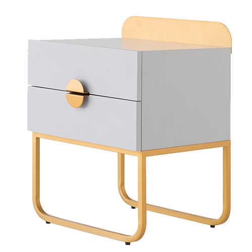 ルイファッションコーヒーテーブルベッドサイドキャビネット北欧スタイルシンプルでモダンな寝室の収納引き出し受領北欧