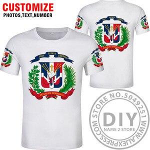 Image 4 - 도미니카 t 셔츠 로고 무료 맞춤 이름 dma 티셔츠 국가 국기 스페인어 도미니카 도미니카 공화국 인쇄 사진 의류