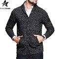 2016 Nuevo Diseño Del Botón Rebecas de Los Hombres Suéter Hombres Suéter Sólido Ocasional Jumpers Cardiga Blusa Masculina Hombres Suéter Tejido J100