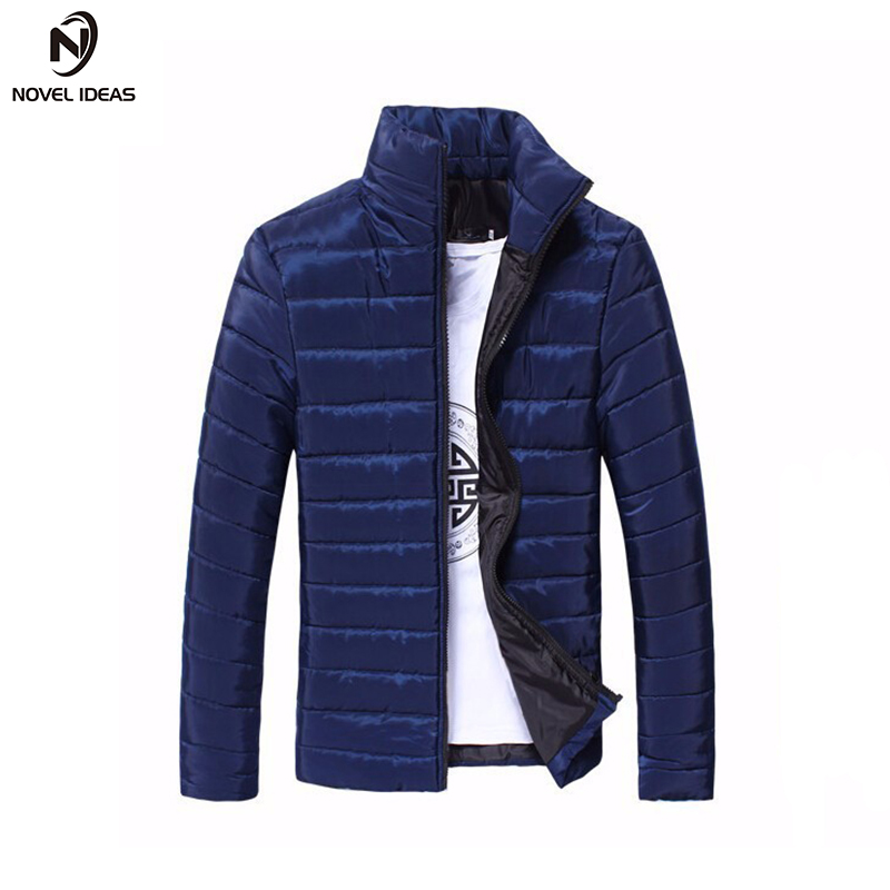 Novel ideas 2017 Brand New Men Jacket Autumn Winter Clothes Cotton Denim Jacket Solid Zi ...
