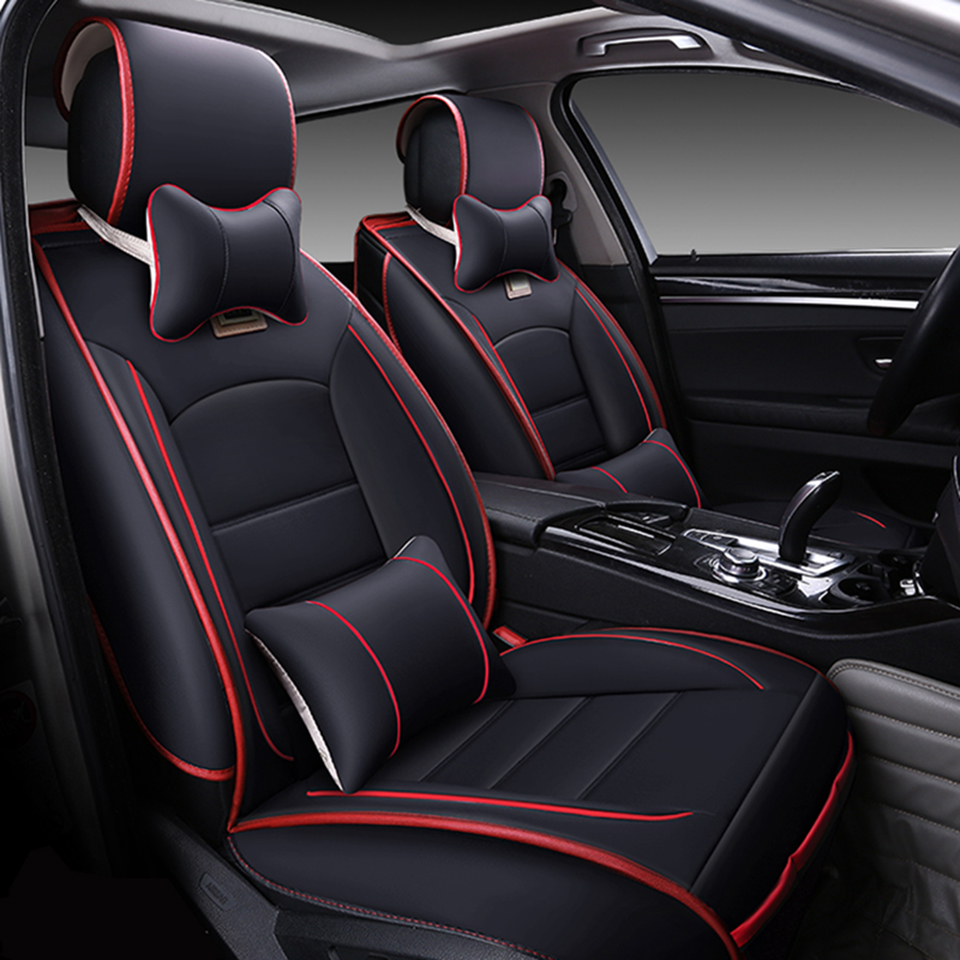 Universal leather car seat covers for honda accord fit city cr v xr v