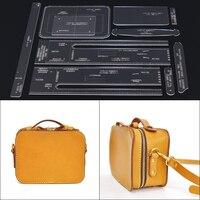 Handmade leather acrylic durable pattern DIY handbag slanting bag design template mold 20X15X10CM