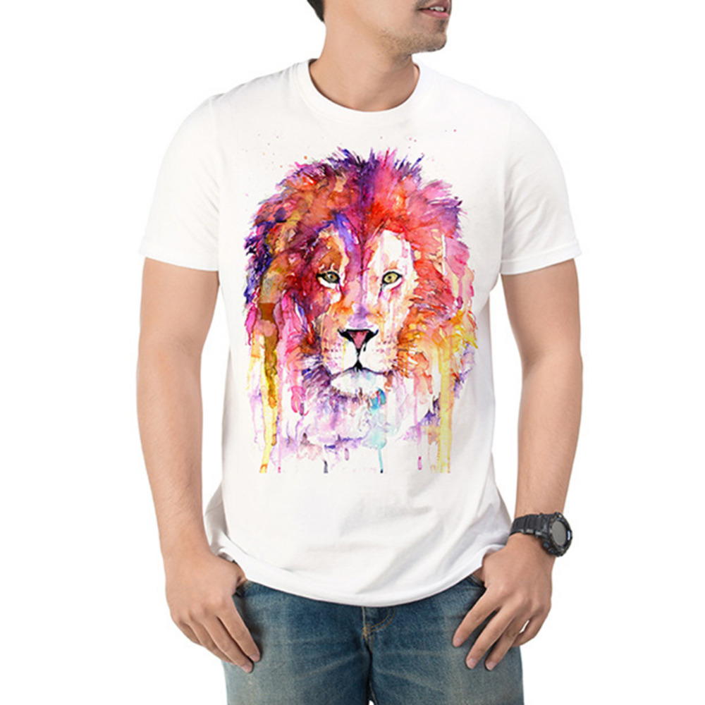 New Fashion Men/women 3d t-shirt funny print colorful Splash Ink Print hair Lion King summer cool t shirt street wear tops tees