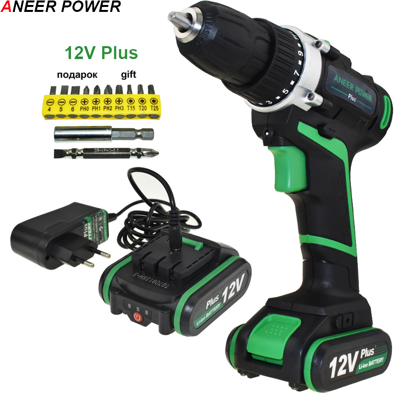 12v Plus Batteries Battery Screwdriver Power Tools Mini Drill Drilling Electric Screwdriver Cordless Drill Mini Electric Drill 12v power tools electric drill electric cordless drill electric drilling battery drill 2 batteries screwdriver new style