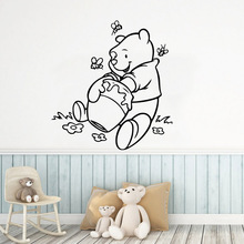 Large winie the pooh Waterproof Wall Stickers Home Decor Removable Sticker Decoration Decal muursticker