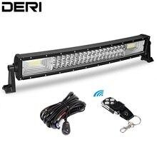 דרעי לשלושה שורה מעוקל LED אור בר Offroad Led בר ספוט מבול קומבו Beam Led עבודה אור בר 12v 24v רכב Retrofit סטיילינג