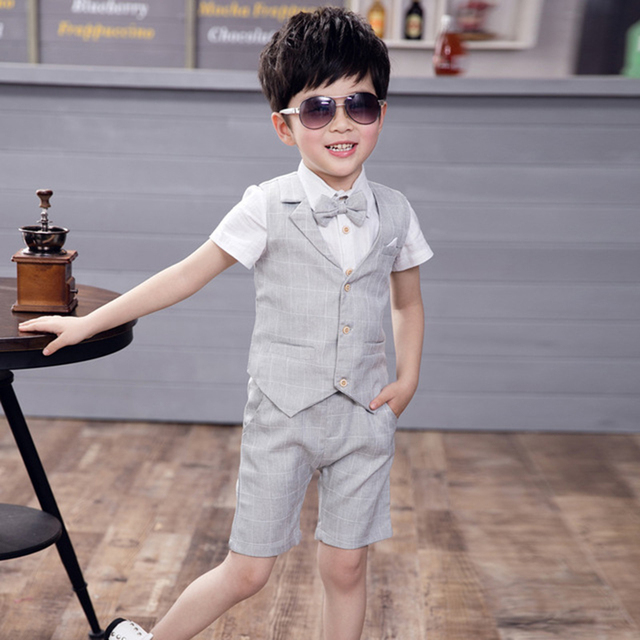 Baby Boys Suit Formal Jacket 2019 New Summer Cotton Boy Suits Wedding Party Kids Blazer Korean Style Infantil Chlidren Clothing