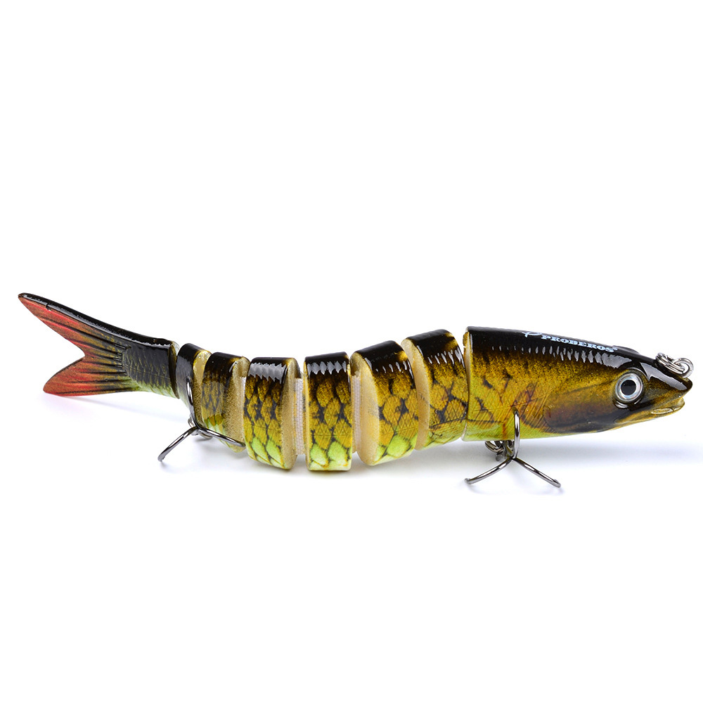 1pc 8 Sections Fishing Lure 0 689oz 19 54g 13 28cm 5 23 quot Swimbait Fishing bait 6 Hook Fishing Tackle DJ013 in Fishing Lures from Sports amp Entertainment