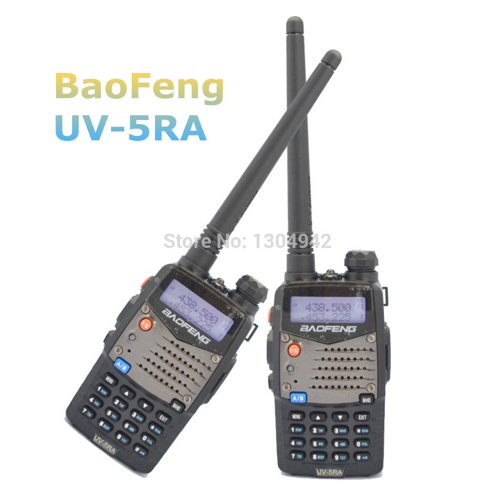 2 pcs Baofeng UV 5RA Walkie Talkie Black Dual Band VHF UHF Baofeng UV 5ra Portable