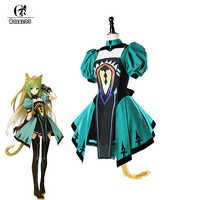 ROLECOS Game Fate Grand Order Cosplay Costume Atalanta Costume Green Full Sets Combat Dress for Women Cosplay Costume Dress