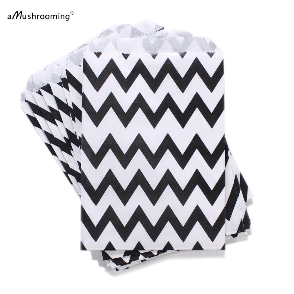 25 black chevron favor bags / Treat / Wedding Favor Bags / Birthdays ...