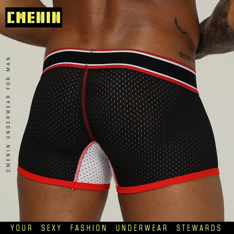 Sexy Mesh Brand Men Underwear Fashion Slip Boxer Men Underwear Elastic Waist Breathable Quick Dry Boxer Bikini Boxershorts OR201