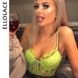 Ellolace, неоновый кружевной боди для женщин, сетчатый прозрачный комбинезон, бодикон, открытая спина, сексуальные комбинезоны, боди для женщин,...