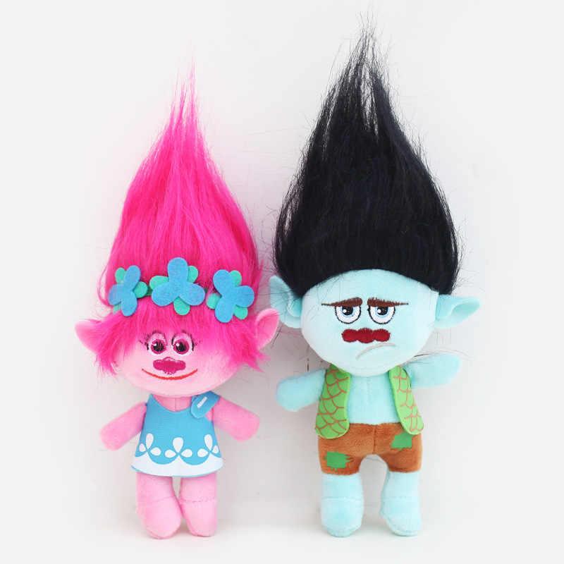 Trolls 23-36 cm Filme Brinquedos de Pelúcia A Boa Sorte Trolls Ogres Papoula Ramo Sonho Boneca De Pelúcia Macia Pelúcia anime Toy Presente para Crianças