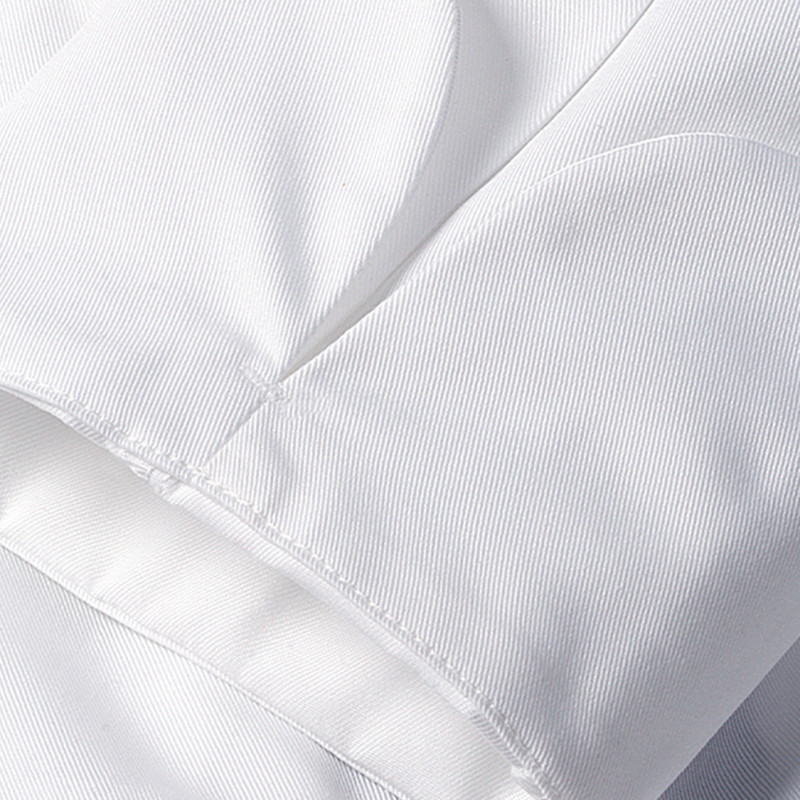 Black White Long Sleeve Chef Shirt D74-10