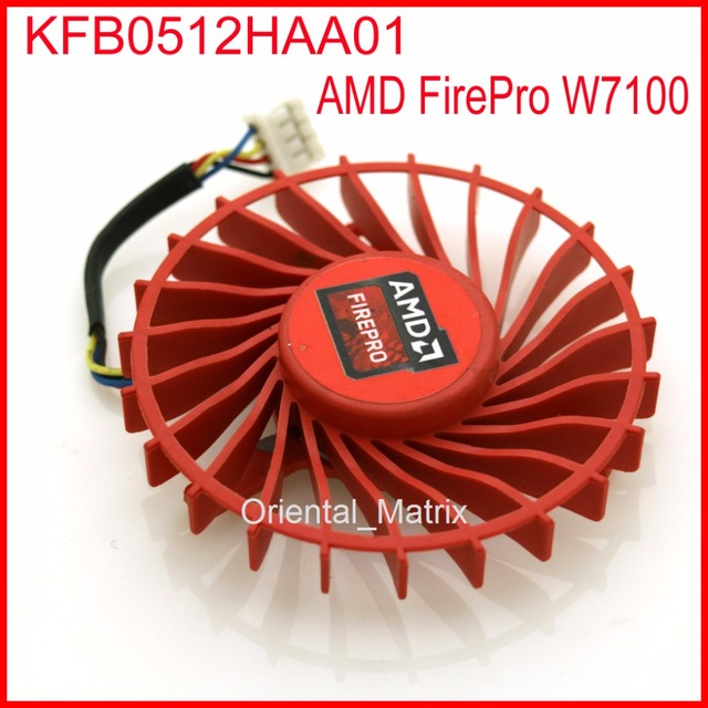 US $9 71 19% OFF|Free Shipping KFB0512HAA01 56mm 12V 0 20A 4 Wire Video  Card Cooler Fan For AMD FirePro W7100 Cooling Fan-in Fans & Cooling from