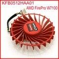 Frete grátis kfb0512haa01 56mm 12 v 0.20a 4 fios ventilador de refrigeração da placa de vídeo ventilador cooler para amd firepro w7100
