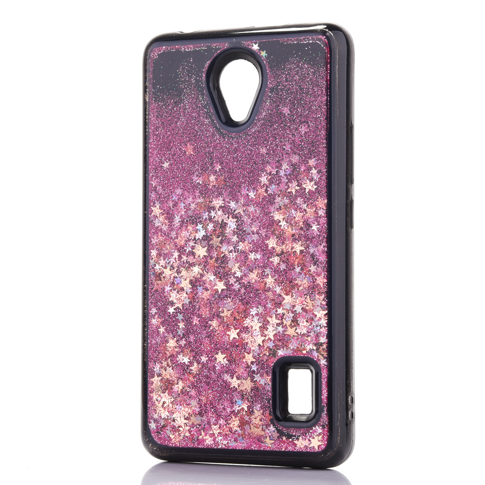 for Huawei Y635 Dynamic Liquid Glitter Sand Quicksand Star Soft TPU Case For Huawei Ascend Y635 Crystal black Back Cover