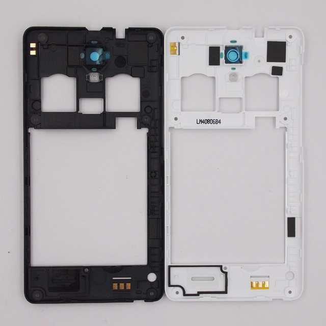 Baansam Baru Dual Kartu Tengah Bingkai Housing Case Untuk Lenovo A536 A358T Dengan Antena Lensa Kamera