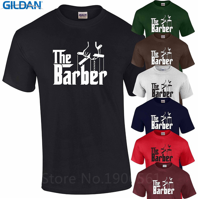 57518bb7472 Cheap T Shirt Design Men'S Crew Neck The Barber Godfather Hairdresser Cut  Birthday Short Graphic Tees