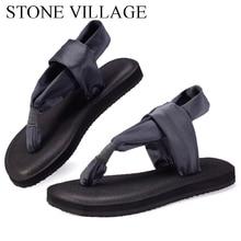 Estilo quente sandálias femininas verão sandálias planas moda dedo do pé plano flip flops yoga sandálias artesanais sapatos femininos tamanho grande