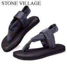 Sandales de Yoga pour femmes, sandales plates, chaussures de Yoga à la mode, tongs à bout plat, faites à la main, grande taille