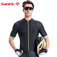 Santic Men Cycling Jersey Short Sleeve Pro Fit Imported Italian Fabric MTB Jersey Road Bike Short Downhill  Jersey Mujer 2019 2016 life on track pro cycling jersey women long sleeve mtb road bike jersey downhill breathable