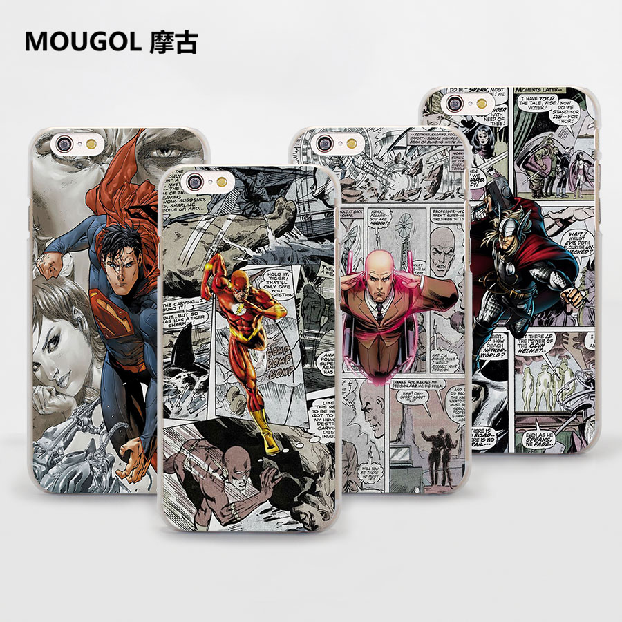 Marvel <font><b>Comics</b></font> Batman <font><b>Spider</b></font> <font><b>Man</b></font> Style Thin clear phone shell <font><b>case</b></font> <font><b>for</b></font> Apple <font><b>iPhone</b></font> X 8 8Plus SE 5 5s 7 7Plus <font><b>6</b></font> 6sPlus