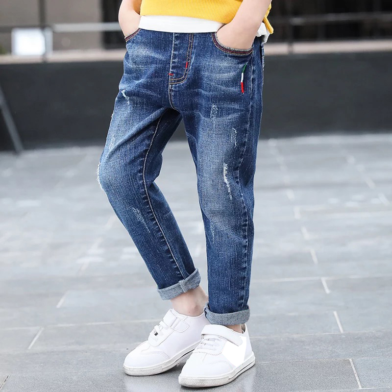 IENENS Jeans Cowboy-Trousers Long-Pants Young Baby-Boy Kids Boys Denim Children Fashion title=