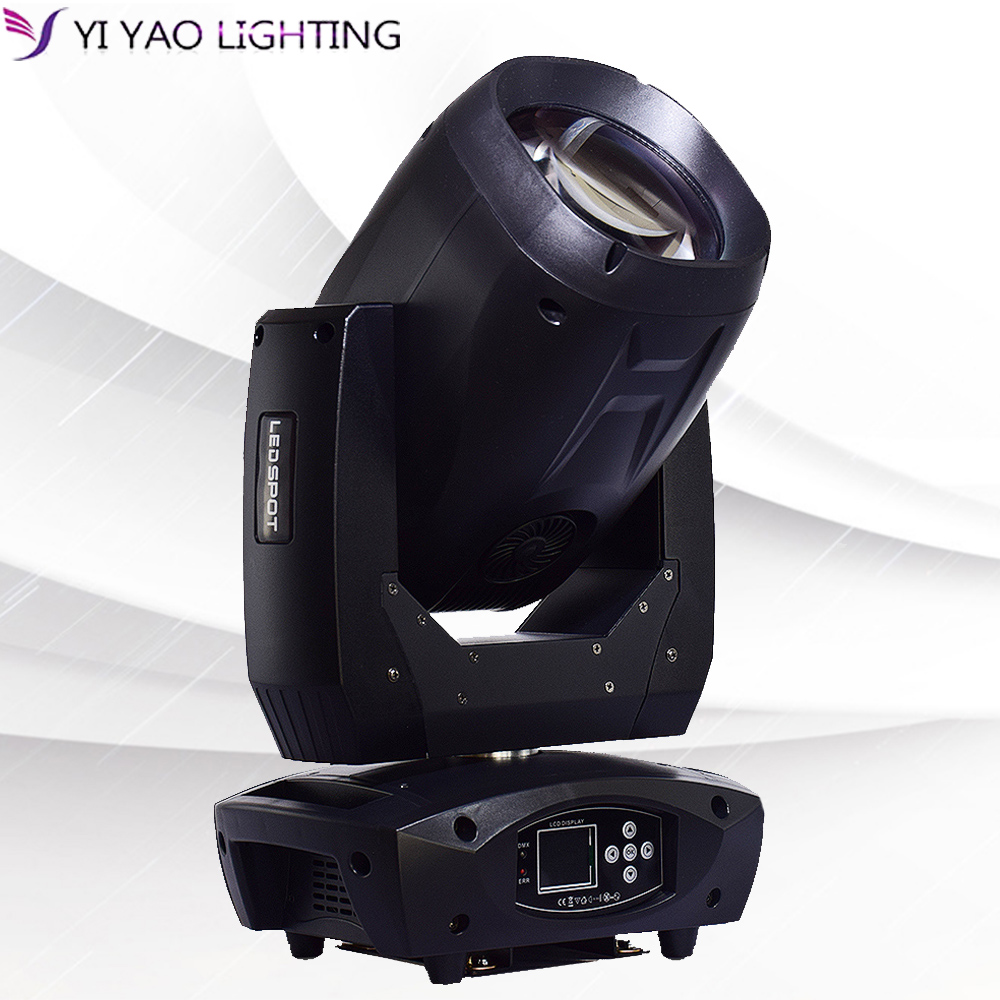 Moving head beam light LED super bright 80W white beads gobos focus prism rotation dmx control cabeza movil for dj stage effect|Stage Lighting Effect| |  - title=
