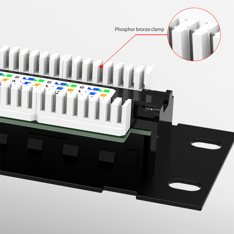 Image 3 - AMPCOM 12 Port Cat6A / Cat6/ Cat5E UTP Mini Patch Panel with Wallmount Bracket Included BlackComputer Cables & Connectors   -
