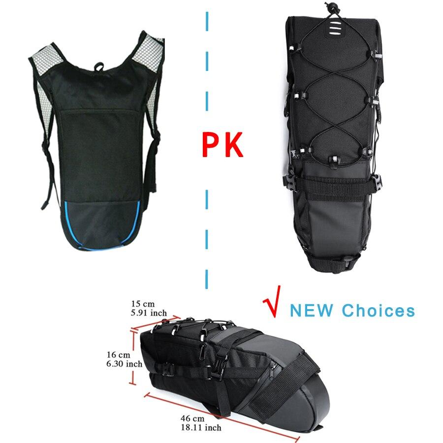 Велосипедная сумка NEWBOLER, велосипедная Сумка-седло, велосипедная сумка для mtb велосипеда, сумка для сиденья, аксессуары 2018, 8-10л, водонепрониц...