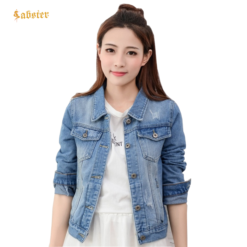 cd23648c70c Rocksir Spring Short Denim Jacket Women 2018 Vintage Harajuku Oversized  Jeans Coat Girls Loose Cropped Jacket Bomber Outerwear