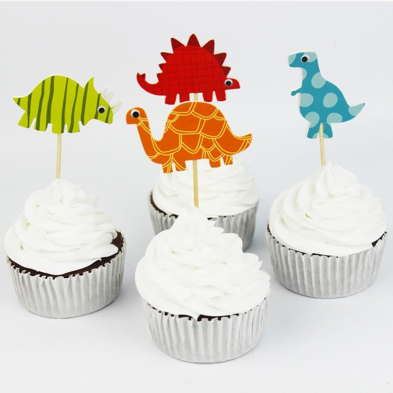 Dinosaur Cupcake Toppers
