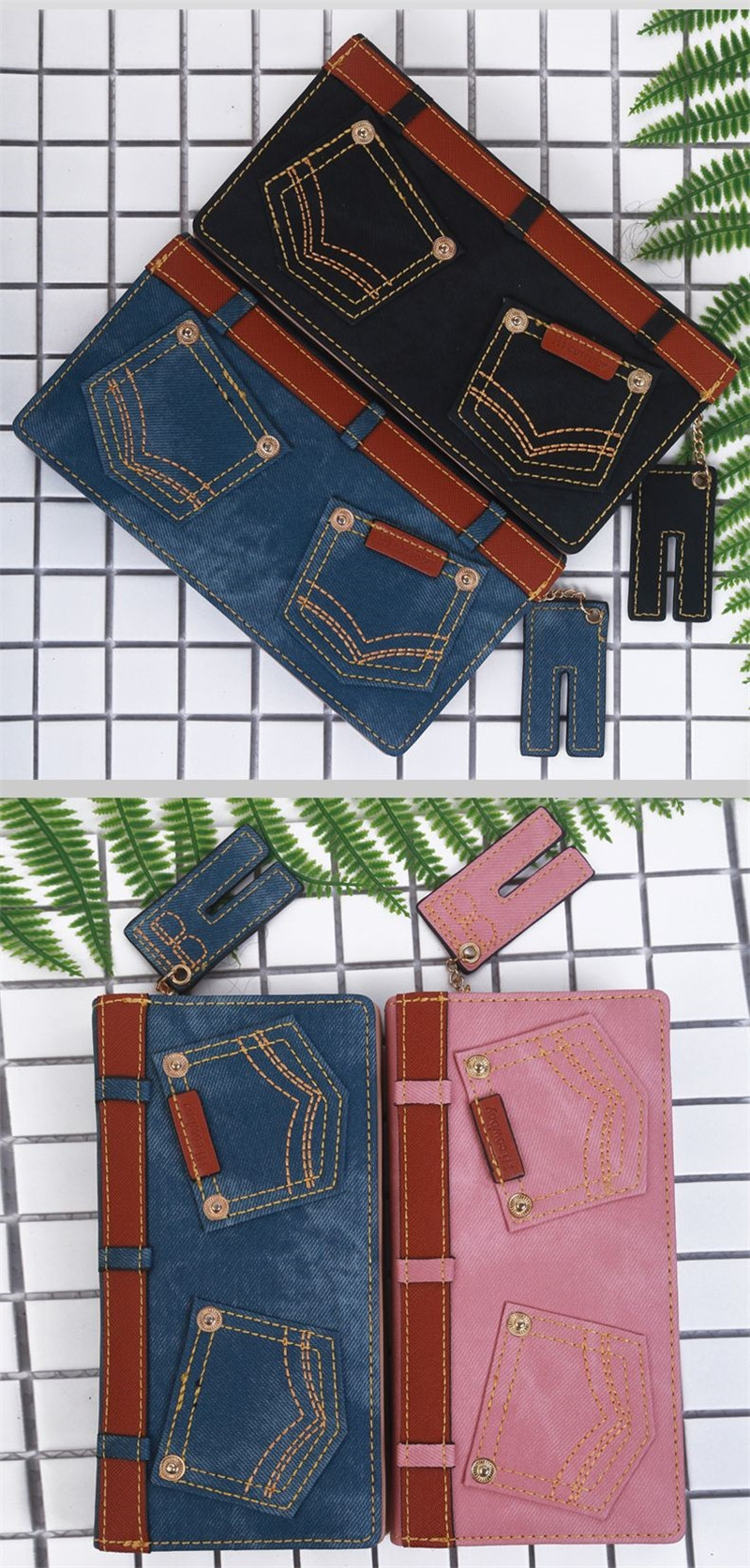 fino mulheres carteiras cartões titulares coin purse