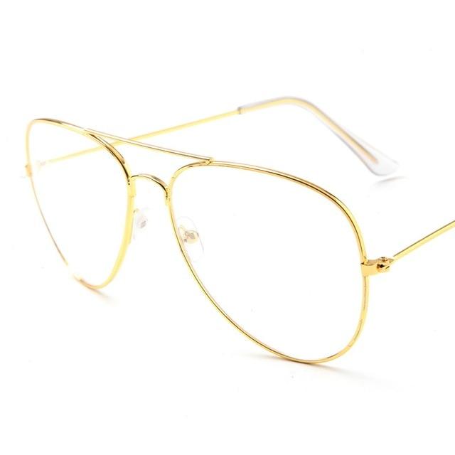 Aviation Or Cadre Lunettes De Soleil des Femmes Classique Lunettes  Transparent Objectif Optique Femmes Hommes lunettes db5318088793
