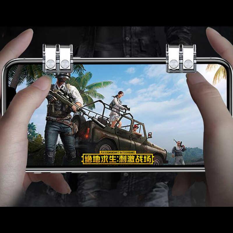 Металл смартфон мобильный игровой триггер для PUBG мобильный игровой контроллер L1R1 джойстик пожарная Кнопка для iphone Android смартфон