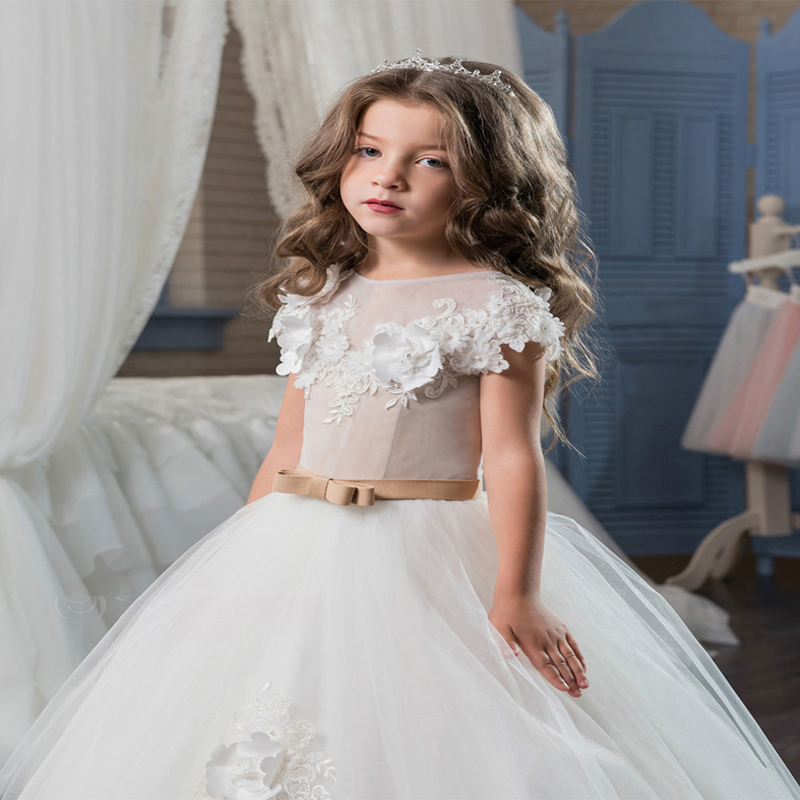 Mermaid Flower Girls Dresses for Wedding Lace Holy Communion Dresses Tulle Pageant Dresses for Long Mother Daughter Dresses teen girls long lace tulle dresses for