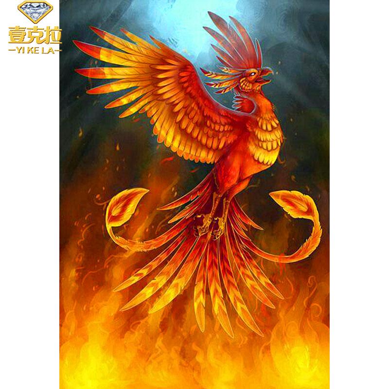 5D DIY Phoenix Bird Diamond Painting Embroidery Cross Stitch Craft Home Decor