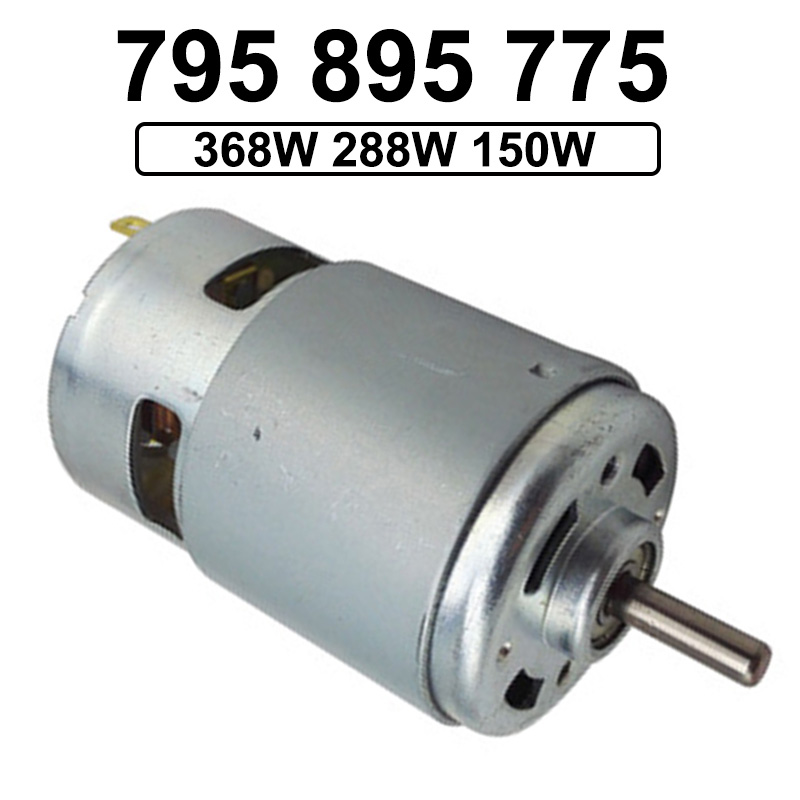 12V 24V DC High Speed Motor 6000-12000RPM Shaft Diameter 5MM Reversed Adjustable Speed Electric DC 12V Motor With Ball Bearing image