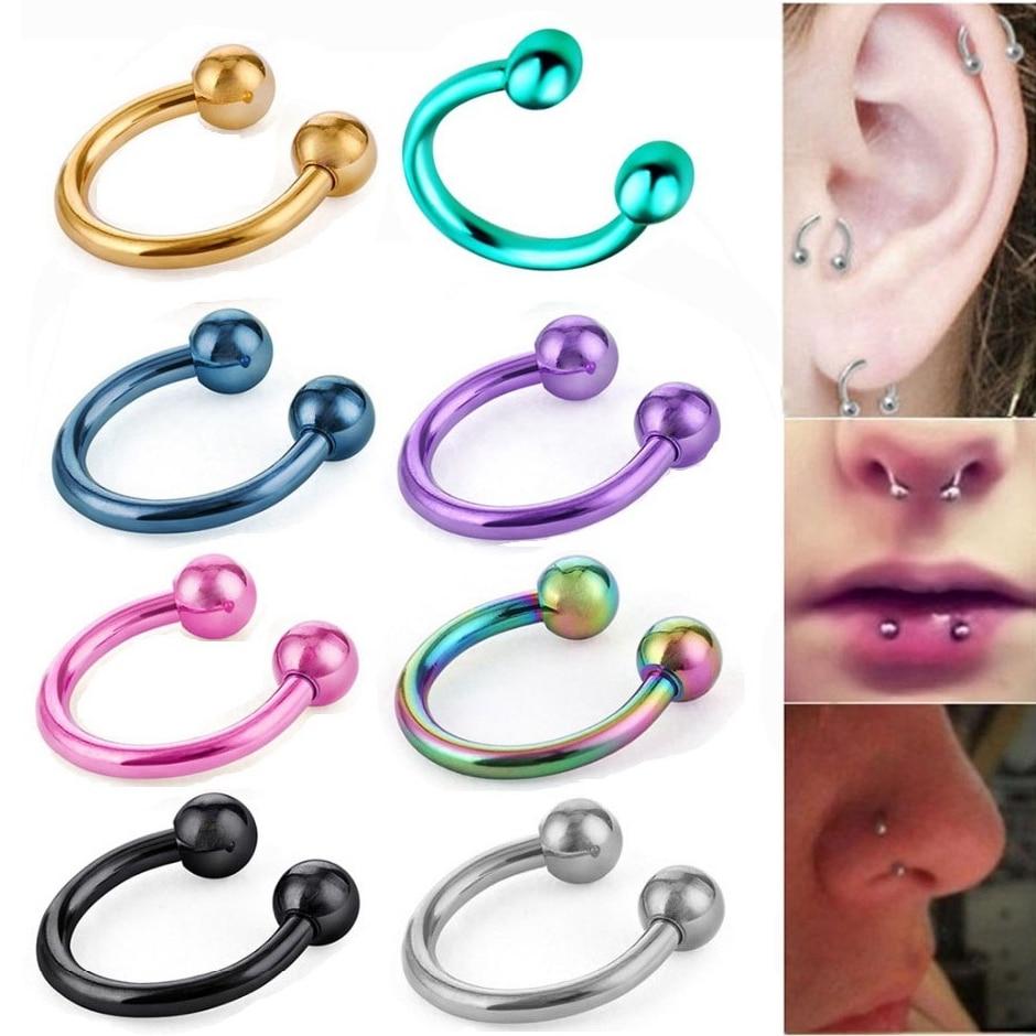 2 Pcs Steel Nose Rings...