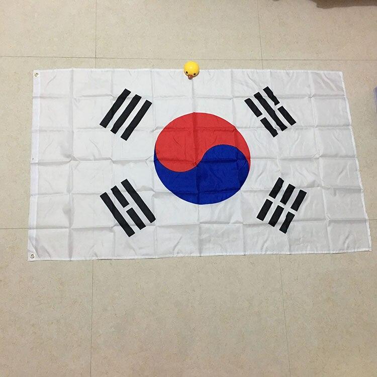 Free  Shipping  Xvggdg   90*150cm South Korea Flag Polyester Flag Banner For Festival Home Decoration