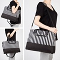 New 5PCS / Set Allis Baby Changing Bag Large Nappy Mummy Sgoulder Travel Bag Diaper Tote Black / Coffee