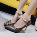 Women High Heels Dress Shoes Weave String Bead Pumps Thin Heeled Woman Shoes Ladies Ankle strap Pump zapatos mujer 3272