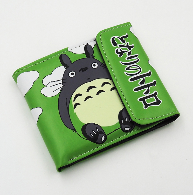 Japanese Anime My Neighbor Totoro PU Short Wallet Purse Colorful Printing Type A